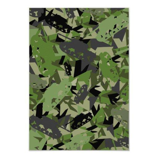 """Tarjeta de RSVP del camuflaje del ejército del Invitación 3.5"""" X 5"""""""