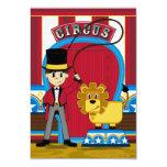 Tarjeta de RSVP del director de pista de circo y Anuncio Personalizado