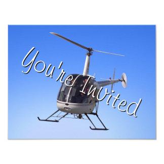 Tarjeta de RSVP del helicóptero de las Comunicado Personal