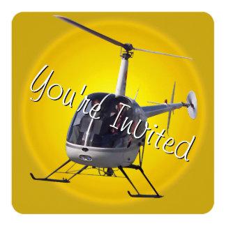 Tarjeta de RSVP del helicóptero de las Invitaciones Personales
