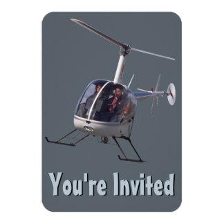 Tarjeta de RSVP del helicóptero de las Comunicado Personalizado