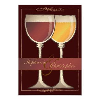 Tarjeta de RSVP del lagar del viñedo de la copa Invitaciones Personales