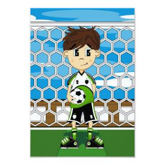Tarjeta de RSVP del muchacho del fútbol Invitaciones Personalizada