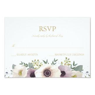 """Tarjeta de RSVP del ramo de la anémona Invitación 3.5"""" X 5"""""""
