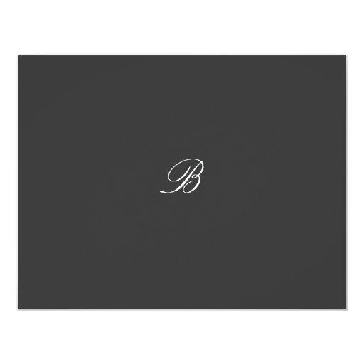 tarjeta de RSVP del rosa del reflejo 311-Damask Invitaciones Personales