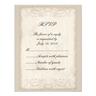 Tarjeta de RSVP del Victorian Invitación 10,8 X 13,9 Cm
