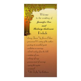 Tarjeta de rubíes del estante del programa del bod lona publicitaria