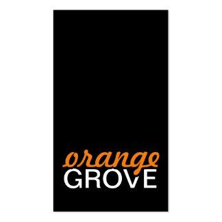 tarjeta de sacador anaranjada de la arboleda tarjetas de visita