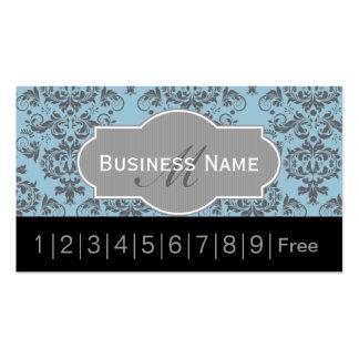 Tarjeta de sacador azul de la lealtad del salón de tarjetas de visita