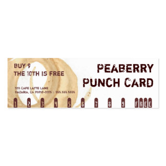 Tarjeta de sacador de la bebida del café de la man tarjetas de visita