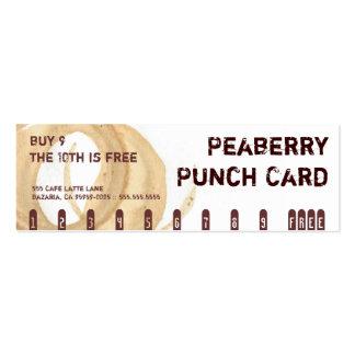 Tarjeta de sacador de la bebida del café de la tarjetas de visita mini