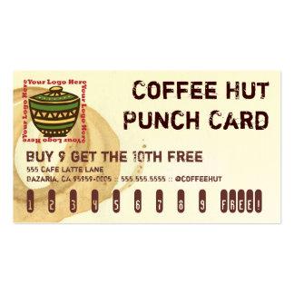 Tarjeta de sacador de la bebida del logotipo de la tarjetas de visita