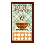 tarjeta de sacador de la cafetería de la tela tarjetas personales