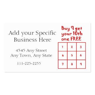 Tarjeta de sacador de la lealtad del cliente - uso tarjetas de visita