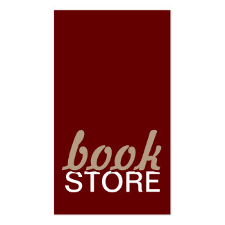 tarjeta de sacador de la librería tarjetas de visita
