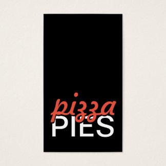 tarjeta de sacador de las empanadas de pizza
