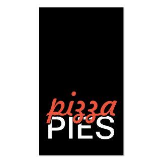 tarjeta de sacador de las empanadas de pizza tarjetas de visita