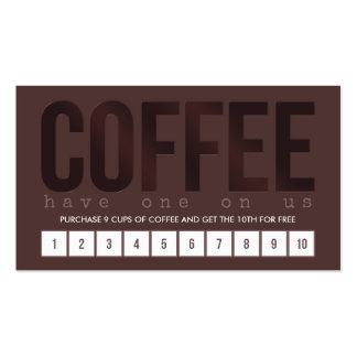 Tarjeta de sacador del café de Brown oscuro Tarjetas De Visita