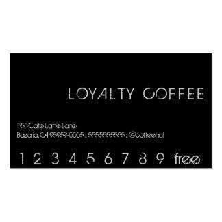 Tarjeta de sacador del café de la lealtad tarjetas de visita