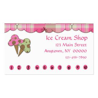 Tarjeta de sacador del helado tarjetas de visita