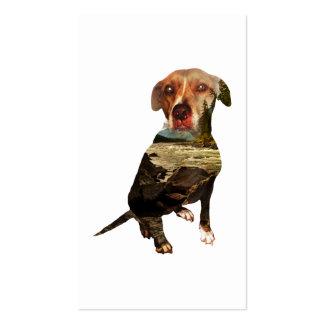 tarjeta de sacador del perro de la exposición tarjetas de visita