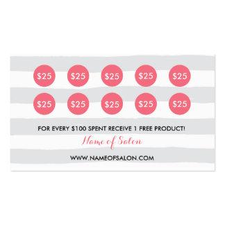 Tarjeta de sacador floral color de rosa elegante tarjetas de visita