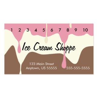 Tarjeta de sacador napolitana de fusión del helado tarjetas de visita
