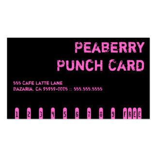 Tarjeta de sacador oscura de la bebida del café de tarjetas de visita