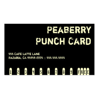 Tarjeta de sacador oscura de la bebida del café de tarjeta personal