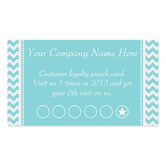 Tarjeta de sacador promocional del descuento azul tarjetas de visita