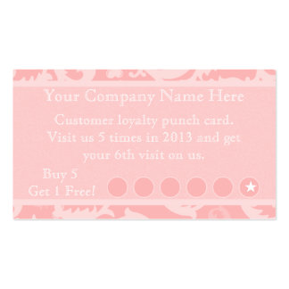 Tarjeta de sacador promocional del descuento rosad tarjetas de negocios