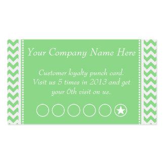 Tarjeta de sacador promocional del descuento verde tarjeta de visita