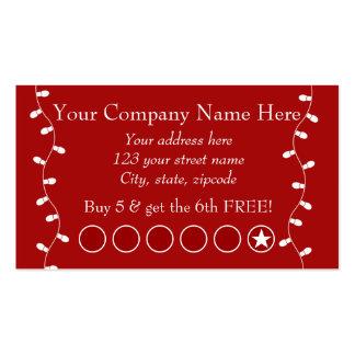 Tarjeta de sacador promocional del negocio festivo tarjetas de visita