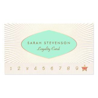 Tarjeta de sacador retra de la lealtad de la tarjetas de visita