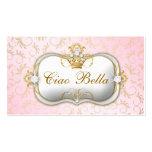 tarjeta de sacador rosada divina de oro de tarjetas de visita