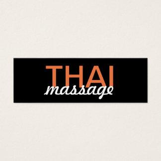 tarjeta de sacador tailandesa del masaje tarjetas de visita mini