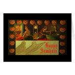 Tarjeta de Samhain basada en tarjeta del vintage