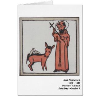Tarjeta de San Francisco Santo