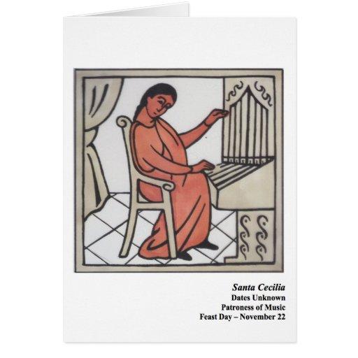 Tarjeta de Santa Cecilia Santo