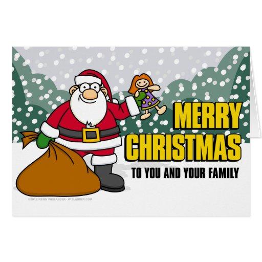 Tarjeta de Santa y de los presentes