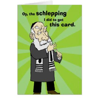 Tarjeta de Schlepping Jánuca