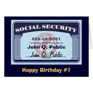 Tarjeta de Seguridad Social - cambie el texto
