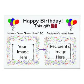 Tarjeta de señales visual: Cumpleaños Invitación 8,9 X 12,7 Cm