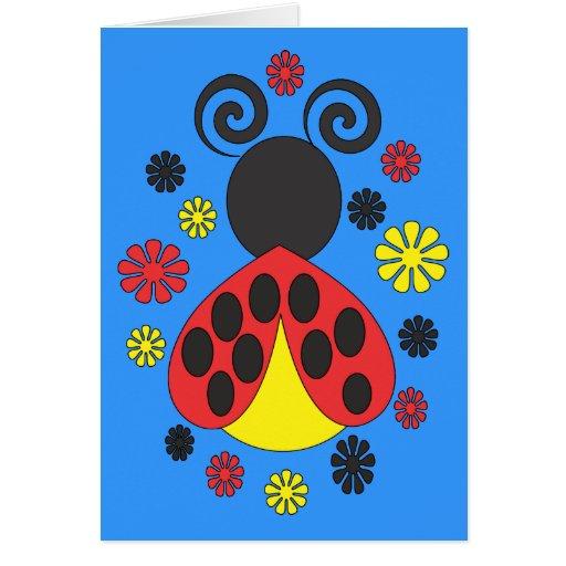 Tarjeta de señora Bug