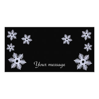 Tarjeta de Snowflakes~photo Tarjeta Fotografica