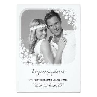 Tarjeta de Sr. y de señora First Christmas Wedding Anuncios Personalizados
