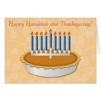 Tarjeta de Thanksgivukkah de la diversión (acción