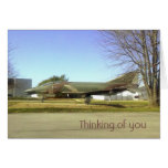 Tarjeta de Thinking_of_you del avión de combate (F