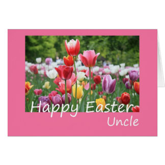 Tarjeta de tío Happy Pascua Tulip