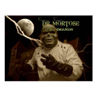 Tarjeta de título de la sepia del Dr. Mortose Postales